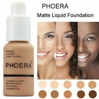 PHOERA 30g Foundation Concealer Make Up Soft Brighten Matte Full Coverage Liquid