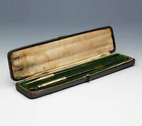 ANTIQUE GOLD MOUNTED WRITING SET JC VICKERY CASED  c.1900