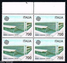 ITALIA 1 QUARTINA EUROPA CEPT STAZIONE TERMINI 1987 nuovo**