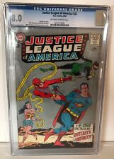 JUSTICE LEAGUE OF AMERICA #25 - CGC 8.0 - OFF WHITE/WHITE PAGES
