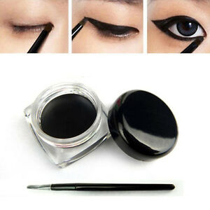 New Black Color Cosmetic Waterproof Eye Liner Eyeliner Shadow Gel Makeup&Brush