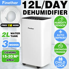 12L/D Digital Dehumidifier Air Purifier Dryer Child Lock Laundry Drying w/ Timer