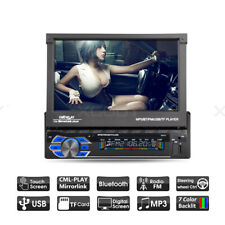 "7"" Car Radio Stereo Bluetooth MP5 Player Audio In-dash Touchscreen Single 1 DIN"
