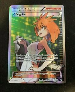 Brigette Trainer 161/162 Ultra Rare Breakthrough Pokemon card Near Mint