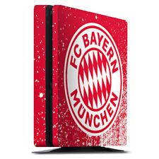 Sony Playstation 4 PS4 Slim Folie Aufkleber Skin Splatter Rot FC Bayern München