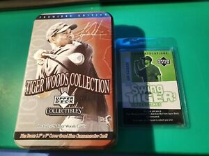 2001 Upper Deck Tiger Woods collection tin SEALED