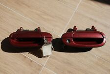 NissaN S14 s14a OEM Claret Red Door HANDLE Set with KEY 200sx 240sx JDM SILVIA