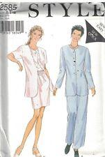 2585 UNCUT Vintage Style Sewing Pattern Misses Jacket Skirt Trousers Pants OOP