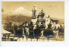 El Popocatepetl—OZUMBA de Alzate RPPC Estado de Mexico—Vintage Photo 1940s