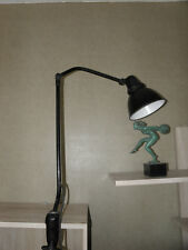 ANTIQUE AEG lamp desk articulating LIGHT Machine age Peter Behrens Gelenklampe