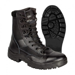 Highlander Alpha Boots Military Style Leather & Cordura Upper Black Size UK 7-13