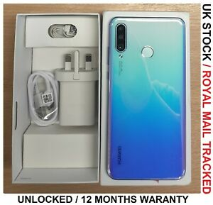 """HUAWEI P30 Lite 128GB Breathing Crystal 6.15"""" 2.2GHz 48MP Cameras Grade A"""