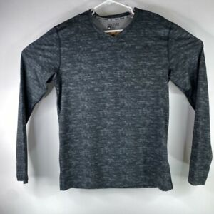 Adidas Mens Tech Fitted Adjust Climate Heather Long Sleeve Gray Shirt Size Large