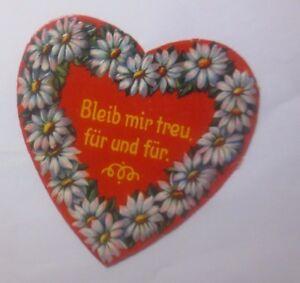 Oblaten,  Herz, Spruch,   Jahr 1930   11 cm x 11 cm  ♥   (62147)