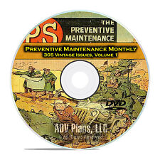 The Preventive Maintenance Monthly, Vol 1, 305 Issues, Army Comics, DVD C89