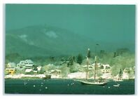 Postcard Winter View of Southwest Harbor, Maine ME K4