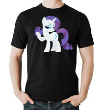 Rarity Pony T-Shirt  Black  My Little Dash Unicorn Rainbow Pinkie Pie Pferd