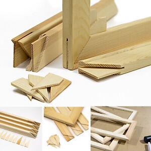 Keilrahmen-Set, Holz Keilrahmenleisten Bausatz zur Selbstmontage, ohne Leinwand