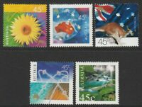 Australia 2000 : Nature and Nation - Set of 5 x 45c Decimal Stamps, MNH