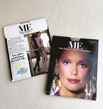 Vintage 80s 'ME' Shiny SHAPERS Dusty GREY Sheer PANTYHOSE ~ SEXY Dancer MODEL!