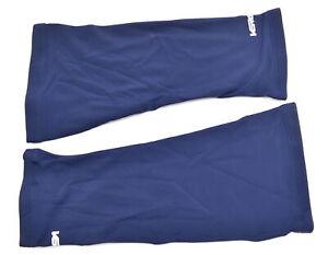 Verge Men's Small Fleece Knee Warmers Navy Blue Brand New