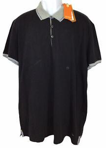 Men's Boss Hugo Boss Polo Shirt Sz XXXL Runs Small Black Short Sleeve Casual New