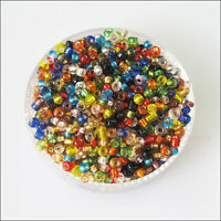 1200 New Charms Brilliant Tiny Seed Round Glass Spacer Beads Mixed 2mm
