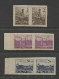1941 ESTONIA  WW II German occupation lot semi postal  imperf mint* $ 15.00