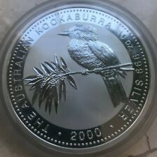 2000 Kookaburra 10 Dollars 10 Oz .999 Silver Round - Huge!