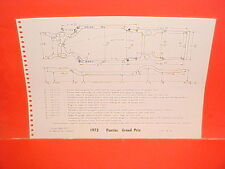 1973 PONTIAC GRAND PRIX HARDTOP SAFARI STATION WAGON FRAME DIMENSION CHART