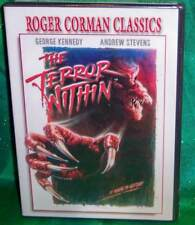 NEW RARE OOP ROGER CORMAN GEORGE KENNEDY ANDREW STEVENS THE TERROR WITHIN DVD