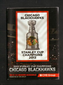 Chicago Blackhawks--2013-14 Pocket Schedule--Comcast Sportsnet