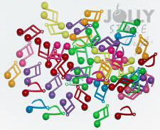 50 Music Note charms pendants for bead jewelry kids crafts necklaces bracelets