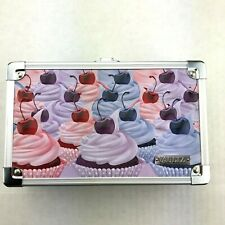 Vaultz Supply Box with Sturdy Key Locking Exterior Embossed Cupcakes Pencils