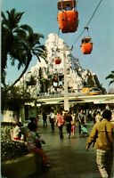 Vtg Disneyland Postcard - Monorail Matterhorn Skyway Gondola  01110591 Unposted