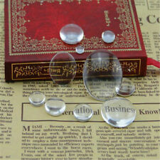 6mm-40mm Crystal Clear Round CABOCHON Flat Back Glass Dome Tile Jewelry Making 30mm 10pcs