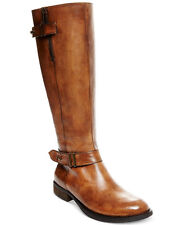 Steve Madden Women's Alyy Riding Boots Size 11 Cognac Leather Retail $159