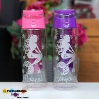 PERSONALISED - NAMED - GLITTER MERMAID WATER / DRINK BOTTLE - 700ML