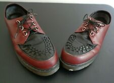 Dr. DOC Martens Men's RAMSEY Oxford Shoes Maroon Black Lace Up Size 14 Free Ship