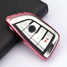 Bright Pink Scratch Proof Shell Protector For BMW Car Key Case Accessories Cover