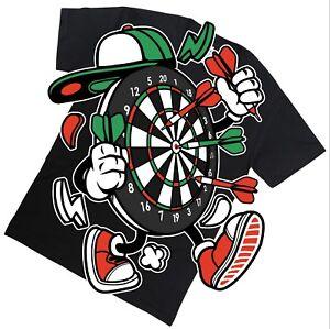Darts T Shirt Top Tee Funny Cartoon Great Gift Sports Fans