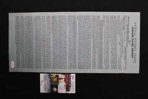 GEORGE HALAS SIGNED CHICAGO BEARS CONTRACT 1964 CHUCK LOGAN JSA COA JB1187