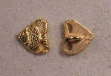 "Set of 6 JHB Gold Realistic Metal Buttons Fish 1/2 X 9/16"" 13 X 15 mm lyk0042"