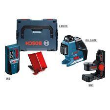Bosch GLL3-80P Line Laser + LR2 Receiver Tiling Laser + BM1 Wall Mount + L-BOXX