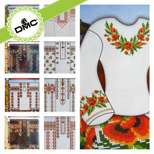 Cross Stitch Embroidery Border Patterns for Women Blouse Boho Ukrainian style CA