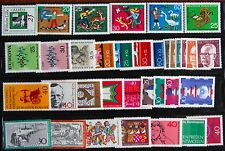 Germany Complete Year 1972 Stamp Set w/ SS Mint Never Hinged MNH German Stamps