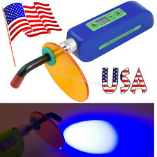 USA Dental Wireless Cordless LED Curing Light Lamp Cure 1500mw Dentist New Blue
