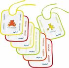 Playshoes 26 X 20cm Baby Bibs 7 Days of the Week on Back Foil Underlay