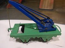 Vintage tinplate Hornby railway truck crane  made by Meccano in England # 20