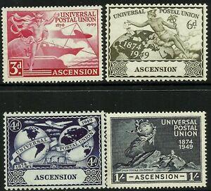 Ascension Is 1949 UPU set Mint Lightly Hinged Fresh Gum